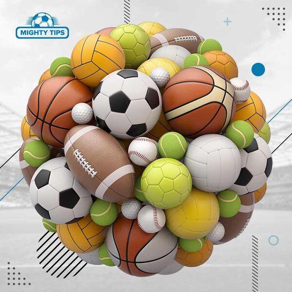 Différentes balles de sport
