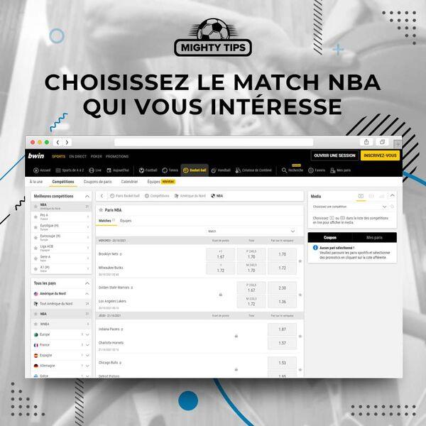 Choisissez le match NBA
